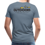 Happy Outdoors - Men's Premium T-Shirt - steel blue