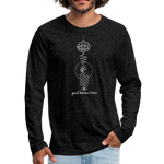 Good Karma Lives - Men's Premium Long Sleeve T-Shirt - charcoal gray