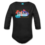 Love & Happiness Forever - Organic Long Sleeve Baby Bodysuit - black