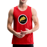 Breathe and Live Good Karma - Men's Premium Tank - red