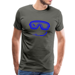 Happy (Goggles) - Men's Premium T-Shirt - asphalt gray