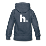 Snow - Women's Premium Hoodie - heather denim