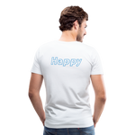 Happy Bloom - Premium T-Shirt - white