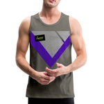 Happy Script - Men's Premium Tank - asphalt gray