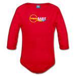 Happy Baby - Organic Long Sleeve Baby Bodysuit - red