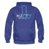 Happy Snowboarding - Men's Premium Hoodie - royalblue