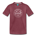 Great Outdoors - Kids' Premium T-Shirt - heather burgundy