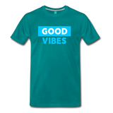 Good Vibes (Cool Blue) - Men's Premium T-Shirt - teal