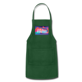 Love & Happiness Forever - Adjustable Apron - forest green