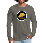 Men's Premium Long Sleeve T-Shirt - asphalt gray
