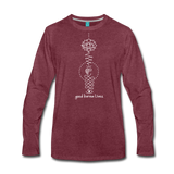 Good Karma Lives - Men's Premium Long Sleeve T-Shirt - heather burgundy