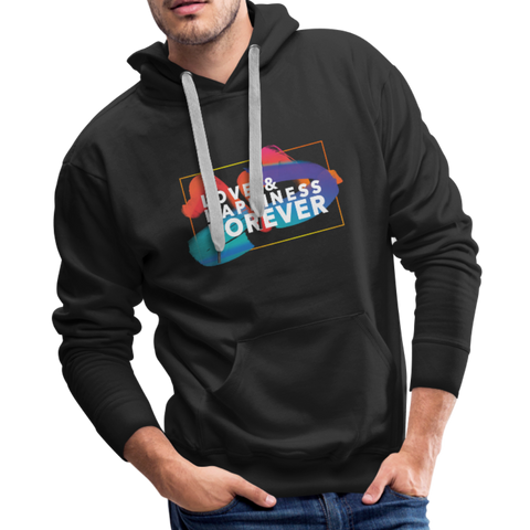 Love & Happiness Forever - Men's Premium Hoodie - black