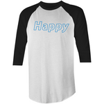 Happy - 3/4 Sleeve T-Shirt