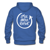 Smile. Shred. Repeat - Men's Premium Hoodie - royalblue