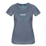 Good Vibes - Women's Premium T-Shirt - heather blue