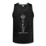 Good Karma Lives - Men's Premium Tank - charcoal gray