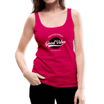 Good Vibes Giver - Women's Premium Tank Top - dark pink