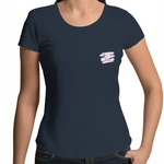 Happy Inside Out - Womens Scoop Neck T-Shirt