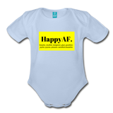 Happy Baby - Organic Short Sleeve Baby Bodysuit - sky
