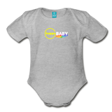 Happy Baby - Organic Short Sleeve Baby Bodysuit - heather gray