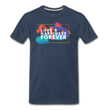 Love & Happiness Forever - Men's Premium Organic T-Shirt - navy