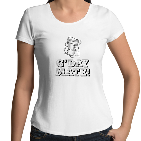 G'day Mate Coffee - Women's Scoop Neck T-Shirt