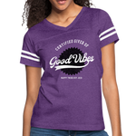 Good Vibes Giver - Women's Vintage Sport T-Shirt - vintage purple/white