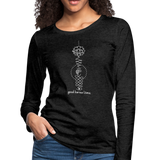Good Karma Lives - Women's Premium Long Sleeve T-Shirt - charcoal gray
