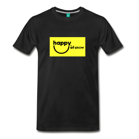 Happy Smiley Logo - Men's Premium T-Shirt - black