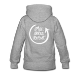 Smile. Shred. Repeat - Women's Premium Hoodie - heather gray