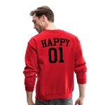 Happy One - Crewneck Sweatshirt - red