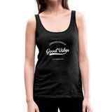 Good Vibes Giver - Women's Premium Tank Top - charcoal gray