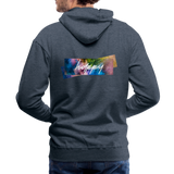 Happy Splash - Men's Premium Hoodie - heather denim