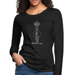 Good Karma Lives - Women's Premium Long Sleeve T-Shirt - black