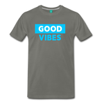 Good Vibes (Cool Blue) - Men's Premium T-Shirt - asphalt gray