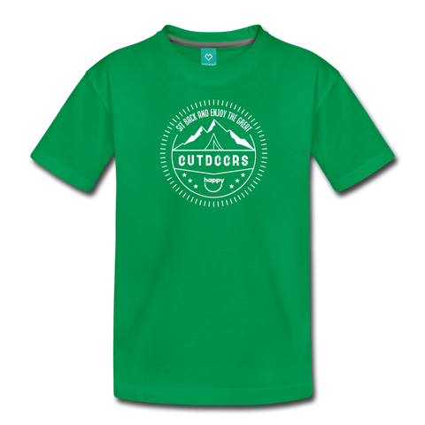 Great Outdoors - Kids' Premium T-Shirt - kelly green