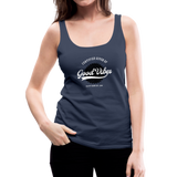 Good Vibes Giver - Women's Premium Tank Top - navy
