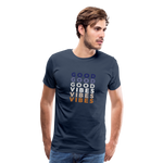 Repeat Good Vibes - Men's Premium T-Shirt - navy