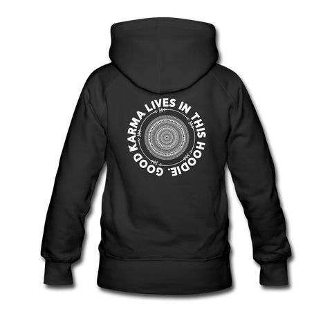 Good Karma - Women's Premium Hoodie - black