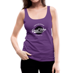 Good Vibes Giver - Women's Premium Tank Top - purple