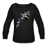 Good Vibes Winter Bloom - Women's Crewneck Sweatshirt - black