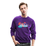 Love & Happiness Forever - Crewneck Sweatshirt - purple