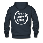 Smile. Shred. Repeat - Men's Premium Hoodie - navy