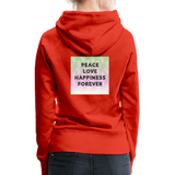 Peace Love Happiness Forever - Women's Premium Hoodie - red