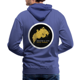 Breathe and Live Good Karma - Men's Premium Hoodie - royalblue