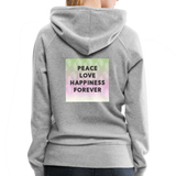 Peace Love Happiness Forever - Women's Premium Hoodie - heather gray