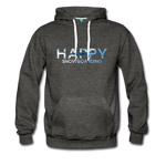 Happy Snowboarding - Men's Premium Hoodie - charcoal gray