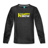 Happy Snow - Kids' Premium Long Sleeve T-Shirt - charcoal gray