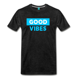 Good Vibes (Cool Blue) - Men's Premium T-Shirt - charcoal gray