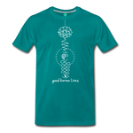 Good Karma Lives - Men's Premium T-Shirt - teal